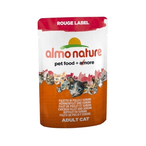 Almo Nature Rouge Label Adult Cat Chicken Fillet and Surimi (0.055 кг) 12 шт. Корма для кошек