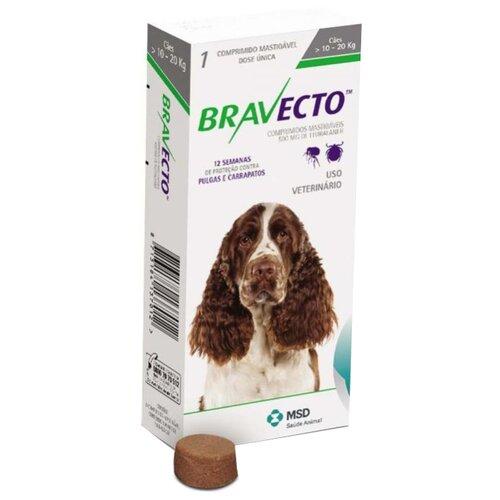 Бравекто (MSD Animal Health) таблетки от блох и клещей для собак 10-20 кг хлоритекс таблетки 20 гр 0 8 кг