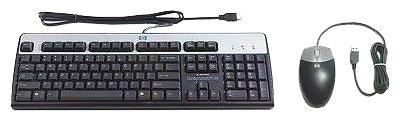 HP Клавиатура и мышь HP 638214-B21 Black-Silver USB