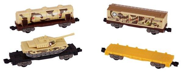 Power Trains 4 военных вагона, 44735