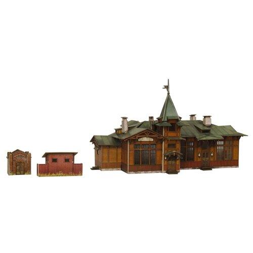Купить Сборная модель Умная Бумага Вокзал Куженкино (317) 1:87, Сборные модели