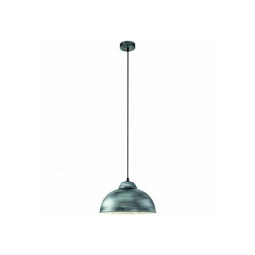 Потолочный светильник Eglo Truro 2 49389, E27, 60 Вт, цвет арматуры: серебристый, цвет плафона: серебристый потолочный светильник eglo 94635 e27 60 вт