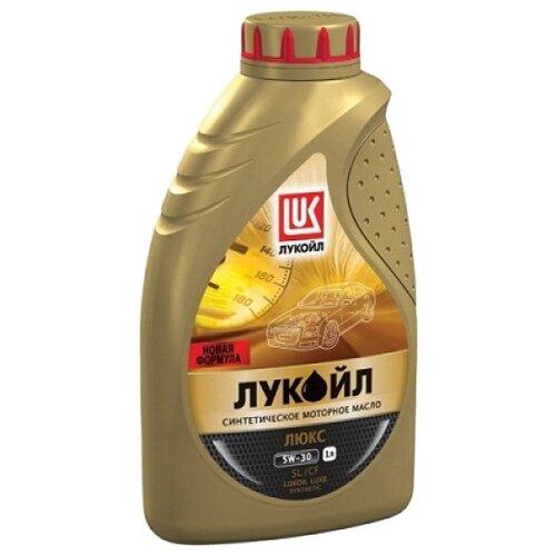 Моторное масло ЛУКОЙЛ Люкс синтетическое SL/CF 5W-30 1 л моторное масло лукойл люкс полусинтетическое sl cf 10w 40 1 л