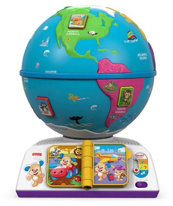 Интерактивная развивающая игрушка Fisher-Price Смейся и учись. Обучающий глобус