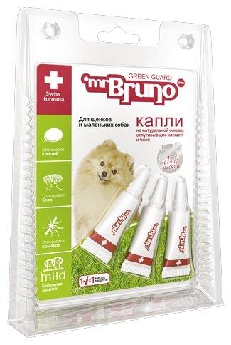 Mr.Bruno Капли репеллентные Грин Гард для щенков и маленьких собак до 10 кг