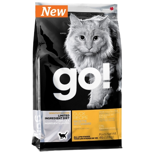 GO! (1.82 кг) Sensitivity + Shine Duck Cat Recipe Limited Ingredient Diet, Grain Free Лечебные корма