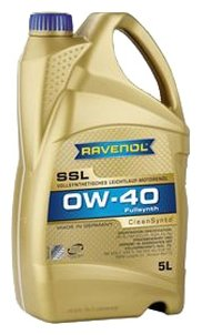 Моторное масло Ravenol Super Synthetik Öl SSL SAE 0W-40 5 л