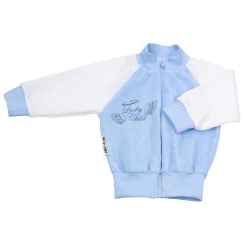 Олимпийка lucky child размер 22 (68-74), голубой боди lucky child размер 22 68 74 голубой