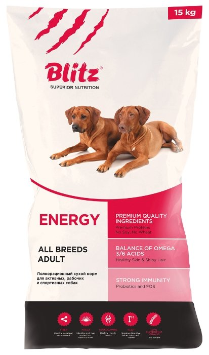 Корм для собак Blitz Adult Dog Energy dry (15 кг)