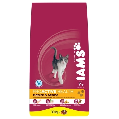 Корм для кошек Iams ProActive Health Mature and Senior Rich in Succulent Roast Chiken (0.3 кг)