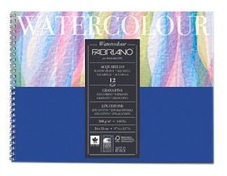 Альбом для акварели Fabriano Watercolour 13.5 х 21 см, 300 г/м², 12 л.