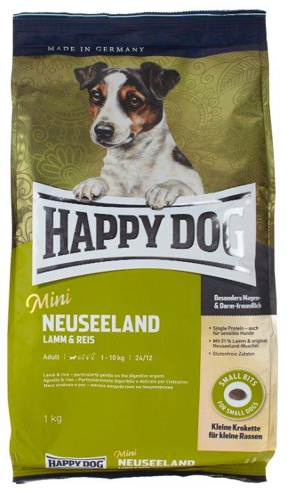 Корм для собак Happy Dog Supreme - Mini Neuseeland для взрослых собак мелких пород с ягненком и рисом
