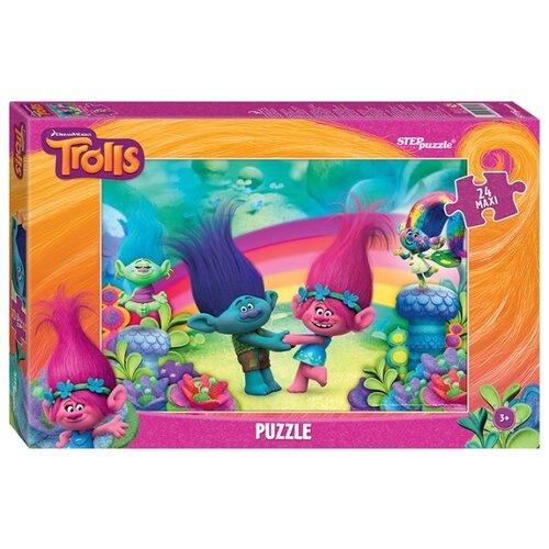 Фото - Пазл Step puzzle DreamWorks Trolls (90030), 24 дет. пазл step puzzle dreamworks trolls 94056 160 дет