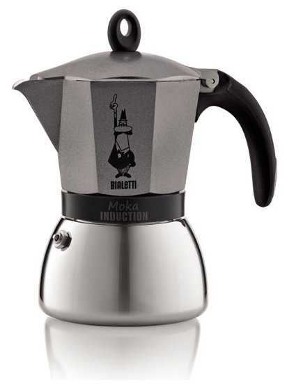 Гейзерная кофеварка Bialetti Musa (на 6 чашек по 50 мл), металлик