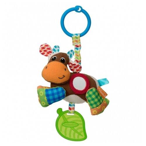 Купить Подвесная игрушка Infantino Коровка (5058) коричневый/зеленый, Подвески