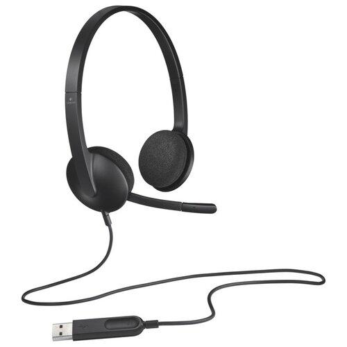 Компьютерная гарнитура Logitech USB Headset H340 черный гарнитура