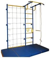 Спортивно-игровой комплекс babysport Городок Г-образный пристенный с сеткой 1 м