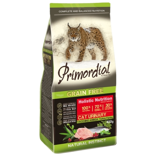 Сухой корм Primordial (2 кг) Grain Free Cat Urinary Turkey Farring