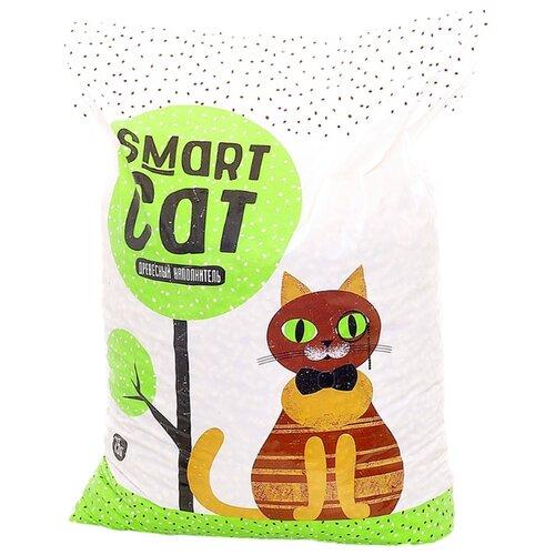 Впитывающий наполнитель Smart Cat Древесный 15 кг впитывающий наполнитель pro cat premium mix 2 кг