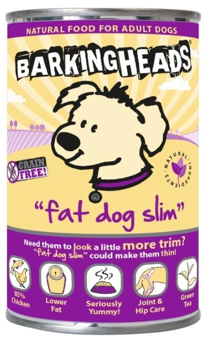 Корм для собак Barking Heads Консервы для собак с избыточным весом с курицей Худеющий толстячок, Fat dog slim