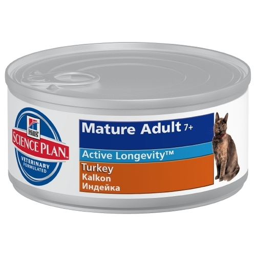 Корм для кошек Hill's (0.085 кг) 12 шт. Science Plan Feline Mature Adult 7+ with Turkey Canned