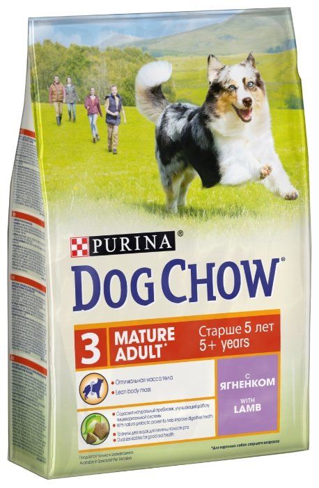 Корм для собак DOG CHOW Mature Adult с ягненком для собак старшего возраста