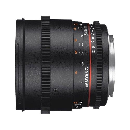 Фото - Объектив Samyang 85mm T1.5 AS IF UMC VDSLR II Canon EF объектив samyang 50mm f 1 4 as umc canon ef