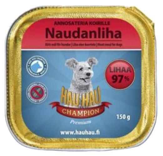 "Корм для собак Hau-Hau Champion Ламистер ""Паштет из мяса"" (0.15 кг) 1 шт."