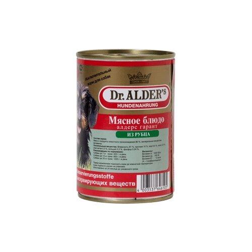 Фото - Влажный корм для собак Dr. Alder`s рубец 410 г влажный корм для собак dr alder s ягненок 12 шт х 750 г