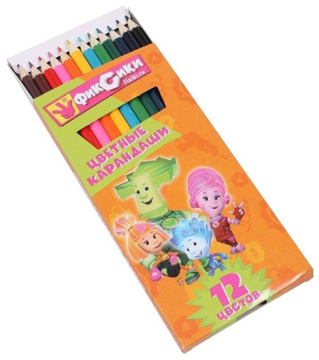 CENTRUM Цветные карандаши Фиксики 12 цветов (84207)