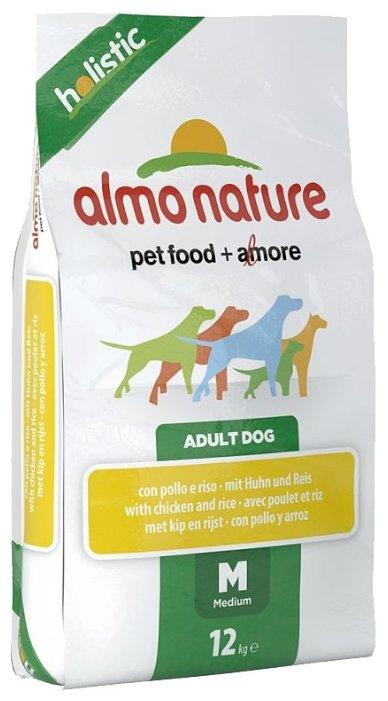 Корм для собак Almo Nature Holistic Adult Dog Medium Chicken and Rice