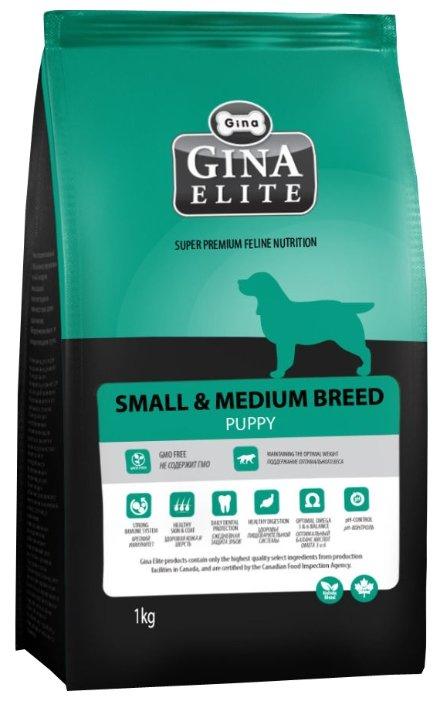 Корм для собак Gina Elite Small & Medium Breed Puppy (1 кг)
