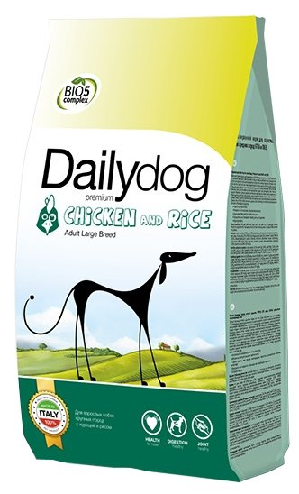 Корм для собак Dailydog Adult Large Breed chicken and rice