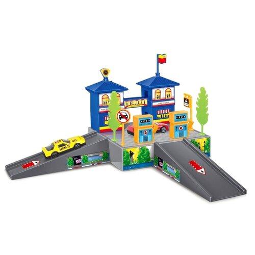Dave Toy Паркинг Gas Station 32020 оранжевый/синий/серый недорого