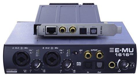 Внутренняя звуковая карта с дополнительным блоком E-MU 1616M PCIe