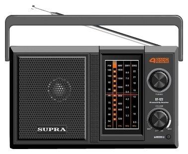Радиоприемник SUPRA ST-122 Black