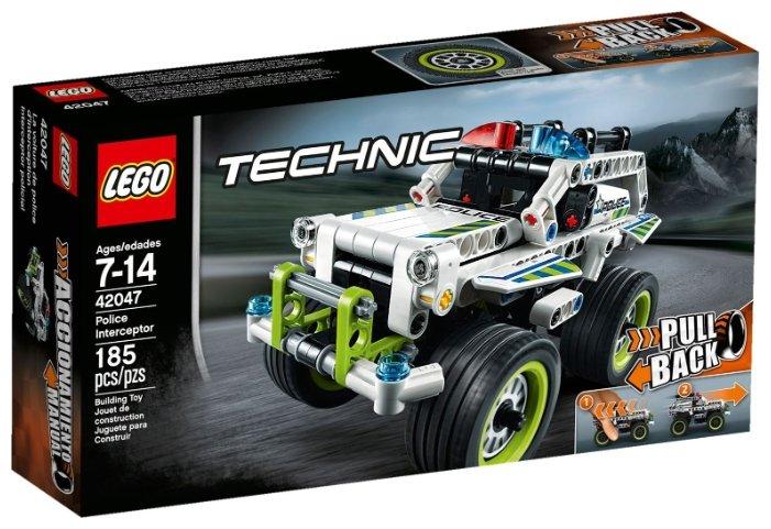 Классический конструктор LEGO Technic 42047 Полицейский перехватчик
