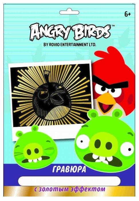 Гравюра CENTRUM Angry Birds - Птица Бомб (85004) золотистая основа