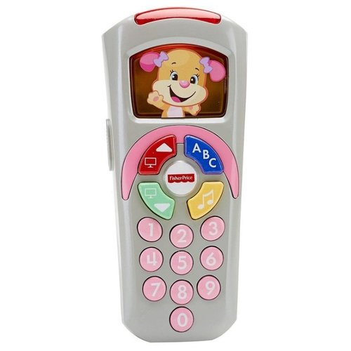 Купить Интерактивная развивающая игрушка Fisher-Price Смейся и учись. Пульт управления Сестрички серый, Развивающие игрушки