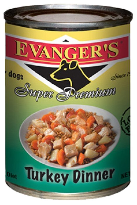 Корм для собак Evanger's Super Premium Turkey Dinner консервы для собак (0.369 кг) 1 шт.