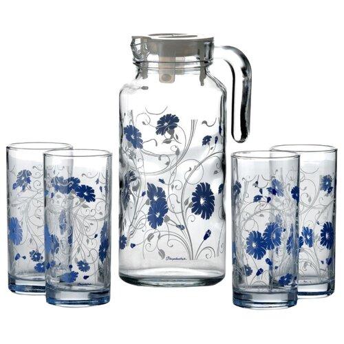 Набор Pasabahce Serenade кувшин + стаканы 5 предметов голубой