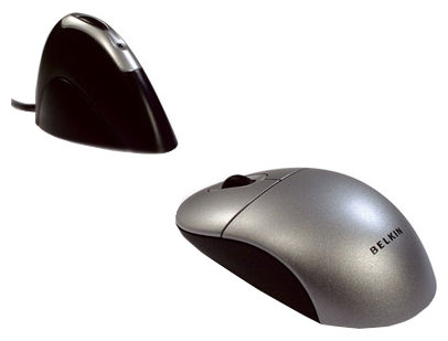 Мышь Belkin Wireless Optical Mouse Silver-Black USB