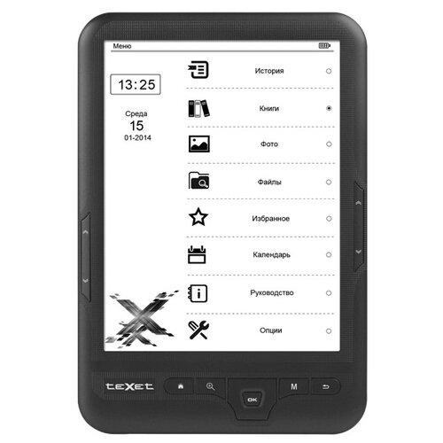 Электронная книга teXet TB-418FL 4 ГБ черный