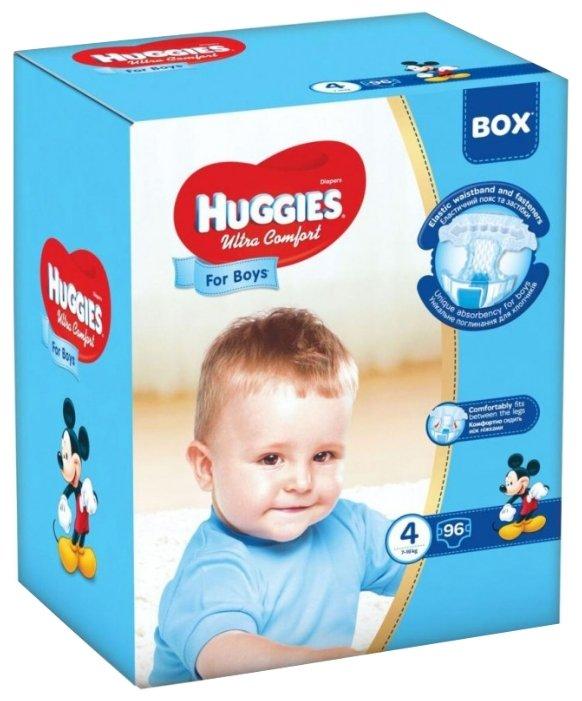 Huggies подгузники Ultra Comfort для мальчиков 4 (7-16 кг) 96 шт.