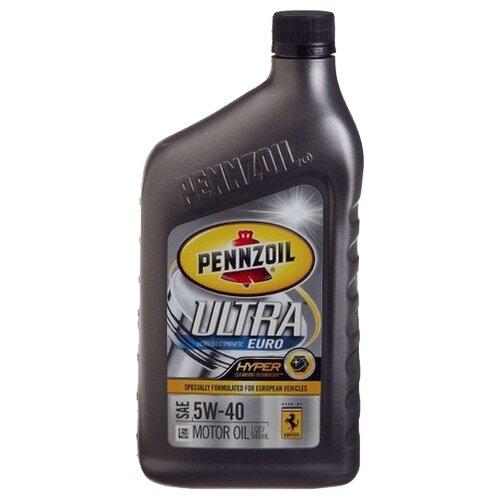 Фото - Моторное масло Pennzoil Ultra Euro SAE 5W-40 0.946 л моторное масло pennzoil gold synthetic blend sae 5w 30 0 946 л