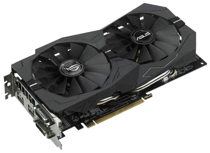 ASUS Видеокарта ASUS Radeon RX 470 1250Mhz PCI-E 3.0 8192Mb 6600Mhz 256 bit 2xDVI HDMI HDCP Strix OC Gaming