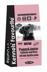 Корм для собак Kennels Favourite Puppy & Junior Salmon and Rice (12.5 кг)