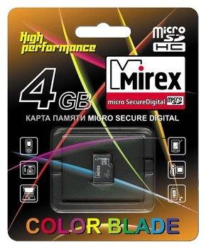 Mirex microSDHC Class 4 4GB