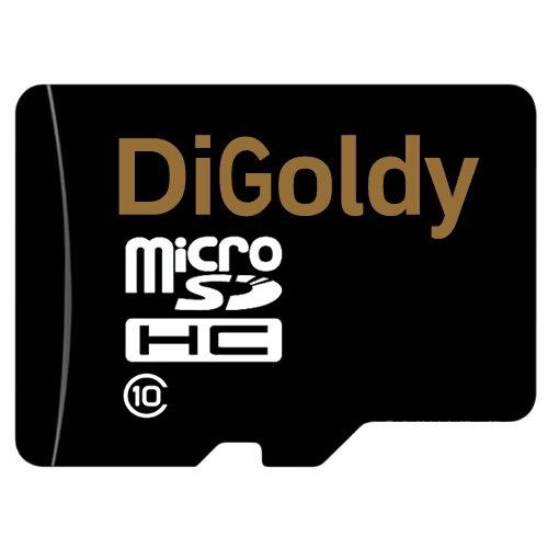 Фото - Карта памяти Digoldy microSDHC class 10 16GB + SD adapter модуль памяти crucial ballistix sport lt red ddr4 dimm 3000mhz pc4 24000 cl15 16gb kit 2x8gb bls2k8g4d30aesek