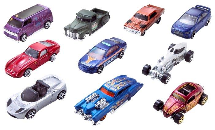 Купить Набор машин Hot Wheels 54886 1:64 по низкой цене с доставкой из Яндекс.Маркета (бывший Беру)